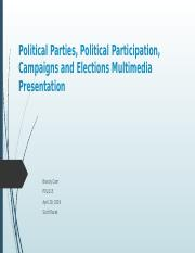 Political Parties, Political Participation, Campaigns and Elections Multimedia Presentation.pptx