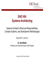 Lecture 6 - System Architect and Complex Systems
