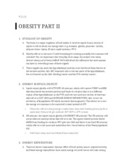Lecture 5- Obesity Part II