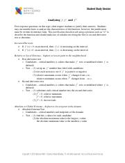 Analyzing f and derivatives SSS Handouts-2