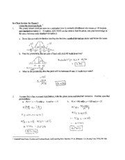 Exam 2 In-Class Review (with Solutions)