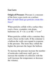 CH 12 GAS LAWS