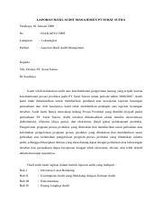225533489 Kasus Keterlambatan Produksi Pt Serat Sutra Fix Audit Manajemen Audit Atas Keterlambatan Produksi Di Pabrik Tekstil Milik Pt Serat Sutra Course Hero
