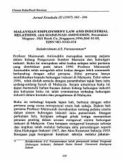 Malaysian Employment Law and Industrial Act.pdf