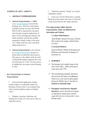APP - Schools of Art Part 2 Notes and Reviewers