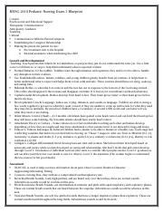 RNSG 2610 Pediatric Nursing Exam 1 Blueprint Final