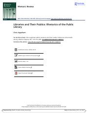 Libraries and their publics