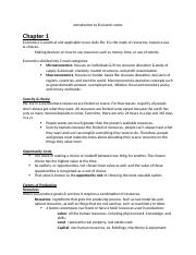 Introduction to Economic (My notes).docx