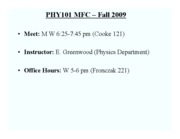 PHY101 Greenwood