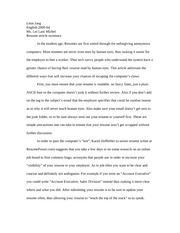 resume article summary
