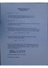calculus for liberal arts review for test 4