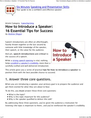 How to Introduce a Speaker_ 16 Essential Tips for Success