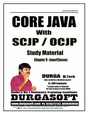 Core_Java_with_SCJP_OCJP_Notes_By_Durga pdf - Core Java with SCJP