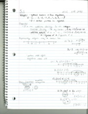 MATH 208 Section 5.1 Notes