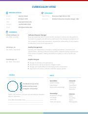 Download Contoh Cv Bahasa Inggris Pdf Curriculum Vitae