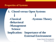 MGMT 370 -  Lecture 03 systems&conting theory