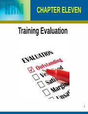 Chapter 11,12 Training Evaluation Costs and Benefits (1)