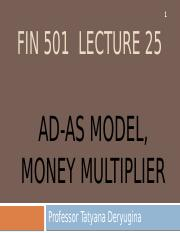 Lecture 25 - AD-AS, Money multiplier.pptx