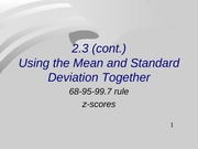 Mean and Standard Deviation Together