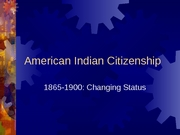 American Indian Citizenship