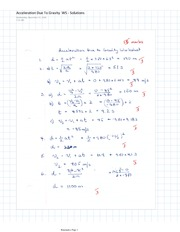 Physics 11 Acceleration Due to Gravity