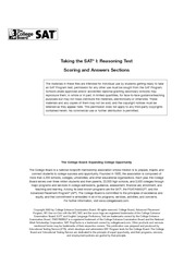 Official SAT 2003-2004 Practice  Test Answer Key