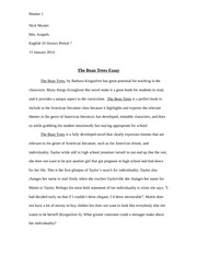 chapter a flood of sunshine again hawthorne gives a positive  3 pages the bean trees essay