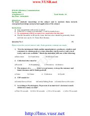 Business Communication - ENG301 Spring 2009 Assignment 05.pdf