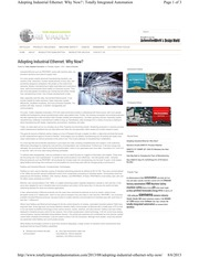 -Articles_20130806_Adopting Industrial Ethernet_Why Now
