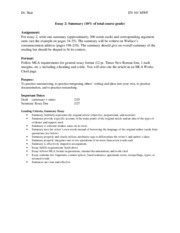 Essay 2 Assignment-Summaries revised (TTh S14).docx