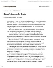 Bosnia's Lessons for Syria - NYTimes.com-2