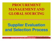 L 2 Supplier Evaluation Process (SIM-SC) Slide per page