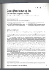 Case Study_Ocean Manufacturing_The New Client Acceptance Decision