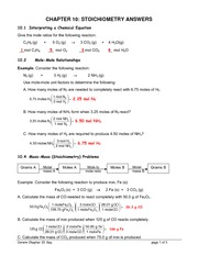 Chapter 9 Homework Key - CHAPTER 9 THE MOLE CONCEPT ...