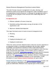 HR MangFunctions Learner Notes.docx