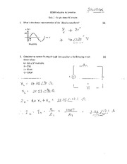 Quiz 1 and 2 solutions