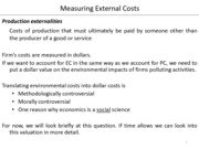 6 Measuring External Costs