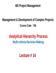 MSPM 706-DMCP Lecture 14 (AHP).ppt