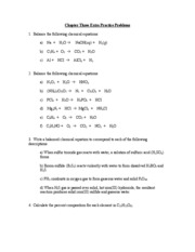 Chapter Three Extra Practice Problems