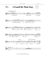 I Could Be That Guy - Sheet music