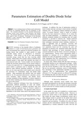 Parameters-Estimation-of-Double-Diode-Solar-Cell-Model