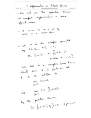7. Approximation in Hilbert spaces