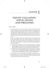 Equity Asset Valuation-Solutions