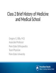 Class 2 History of Medicine and Education.pptx