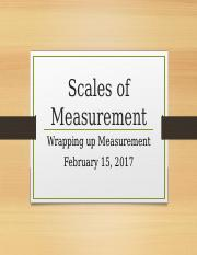 2.15 Scales of Measurement