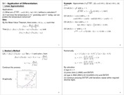 Lecture Notes on Linear Approximations