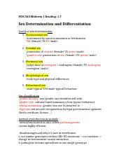 Midterm Reading- 1.7 Sex determination and differentiation