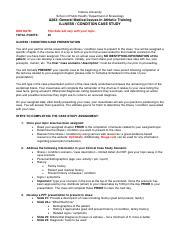 A283 Illness Case Study Assignment pdf - Indiana University School