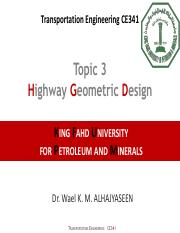 Chapter 3, Hoghway Geometric Design