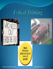 Critical Thinking.2014